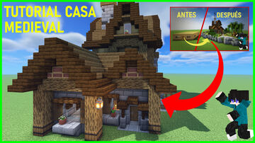 Medieval house / CASA MEDIEVAL Minecraft Map & Project
