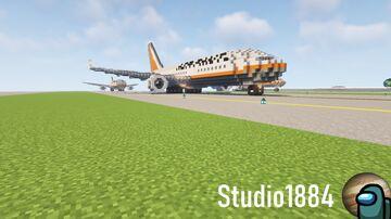 Fictional wide-body Jetliner K618 Minecraft Map & Project