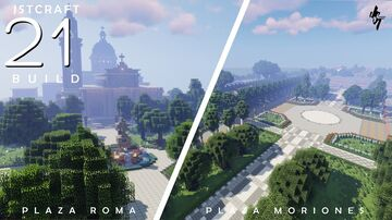 Plaza Moriones and Plaza Roma in Intramuros, Manila Minecraft Map & Project