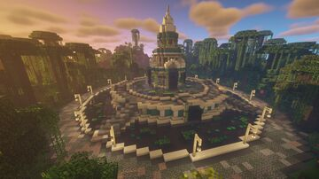 Jungle Fountain Monument Minecraft Map & Project