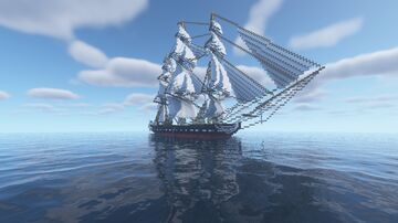 United States Ship Constitution Minecraft Map & Project