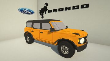Ford Bronco [6th Gen] [1:1 Scale Little Tiles] [Download Available] Minecraft Map & Project