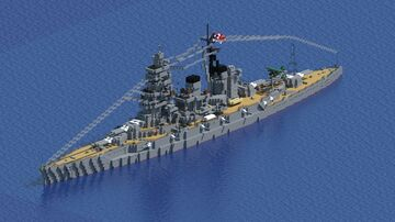 Japanese Battleship Hiei 比叡 (1942 configuration) Minecraft Map & Project