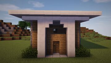 How To Build A Simple & Compact Modern House Tutorial Minecraft Map & Project