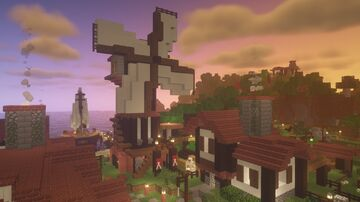 Traditional Brick Village - Hera Isle Minecraft Map & Project