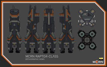 Raptor-Class Light Cruiser || The Expanse Full Interior (1:1) Build Minecraft Map & Project