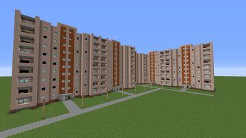 Pripyat block Проспект Строителей 32 Minecraft Map & Project
