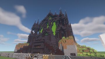 Dark Ruins Cathedral - (Bamboo Farm) - [World Download] Minecraft Map & Project