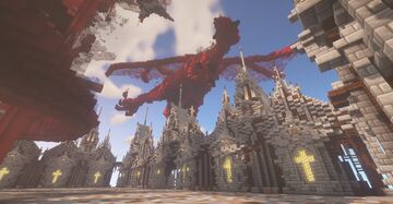 Oldest medieval build I have ever done (and largest & most complex) Minecraft Map & Project