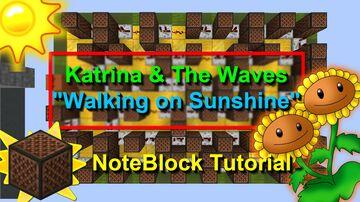"""Walking on Sunshine"" Note Block Doorbell Minecraft Map & Project"