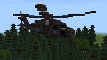 Sikorsky UH-60 Blackhawk 1.5:1 Minecraft Map & Project