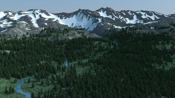 Glacier Valley (3k x 3k) Minecraft Map & Project