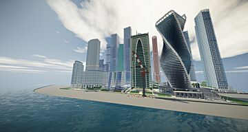Moscow International Business Center (Moscow City)replica Minecraft Map & Project