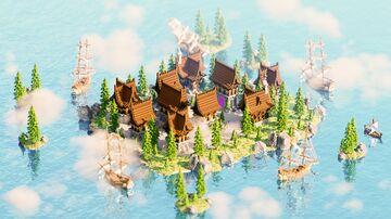 Hub × Lobby Medieval Island Minecraft Map & Project