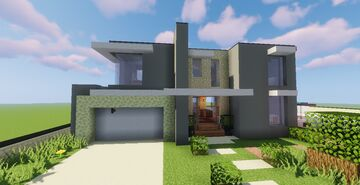 Top 5 Modern House #5 (Map + Schematics) Pt2 Minecraft Map & Project