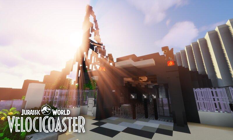Jurassic World VelociCoaster - 1:1 Recreation in Minecraft