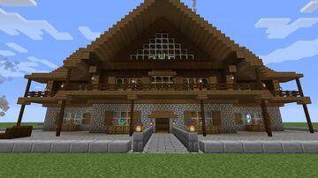 Log Cabin Build (Vanilla 1.16) Minecraft Map & Project