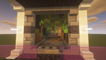 Nether Tunnel Build Idea - Nature Graffiti Theme - [World Download] Minecraft Map & Project