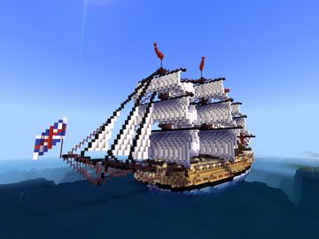HMS BELLONA 1760 Minecraft Map & Project