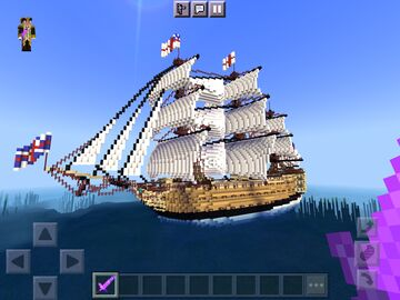 HMS VICTORY OVER THE YEARS Minecraft Map & Project