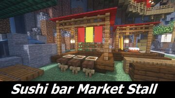 Simple but Awesome Sushi Bar Minecraft Map & Project