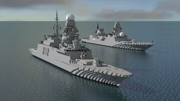 Air-defence Destroyer type-nato & type russia Minecraft Map & Project
