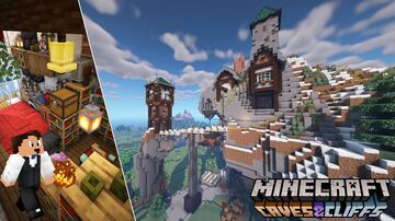 Ultimate Survival Mountain Base! Minecraft Map & Project