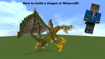 How to build a dragon in minecraft! Minecraft Map & Project