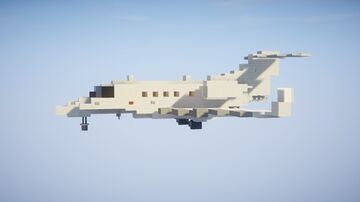 1,5:1 Embraer Phenom 300E Private Jet + Download Minecraft Map & Project