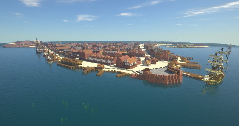 Fort James and the north docks