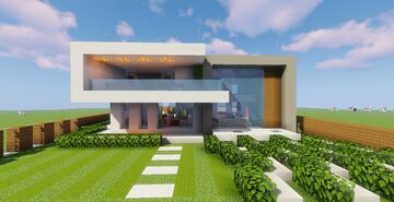 Top 5 Modern House #4 (Map + Schematics) Pt4 Minecraft Map & Project