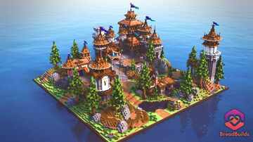 King's Medieval HCF Spawn Minecraft Map & Project