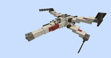 Star Wars X-Wing With Download #WeAreConquest Minecraft Map & Project