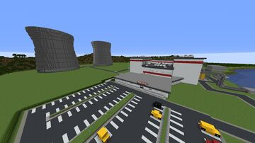 RedTek Nuclear Power Facility Minecraft Map & Project