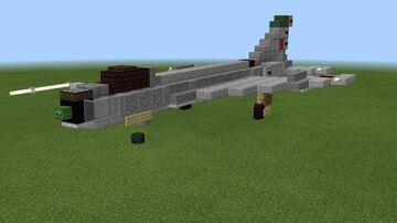 1.5:1 scale Sukhoi Su-7 Minecraft Map & Project