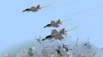 F-16 Fighting Falcon 1.5:1 Minecraft Map & Project