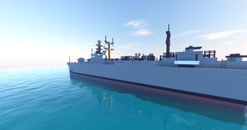WW2 Destroyer Class Navel Ship Minecraft Map & Project