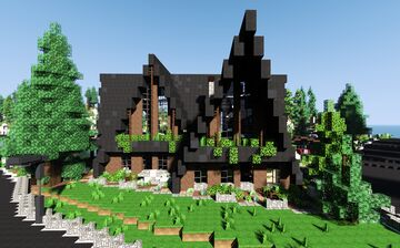 Modern Lake House   interiors + download Minecraft Map & Project