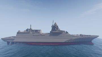 Russian destroyer ship project 104.21 TF Minecraft Map & Project
