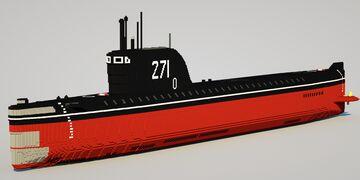 K-19 Soviet Nuclear Submarine Minecraft Map & Project