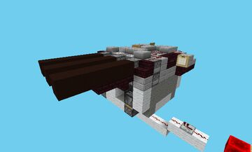 (TNT Cannon) M-3B2GT-01 Adjustable Trajectory Scattershot TNT Turret for Movecraft Warships Minecraft Map & Project