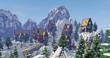 Moutain Village Minecraft Map & Project
