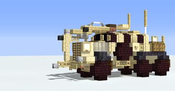 Buffalo MPV(mine protected vehicle) (1.5:1 scale) Minecraft Map & Project
