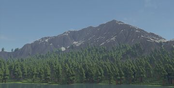 Mountain range made with World Machine and World Painter Minecraft Map & Project
