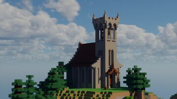 Medieval Small Cliff Church Minecraft Map & Project