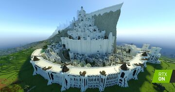 Minecraft with RTX | Minas Tirith by Minecraft Middle-Earth Minecraft Map & Project