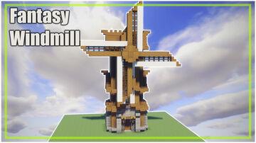 Minecraft Fantasy Windmill Minecraft Map & Project