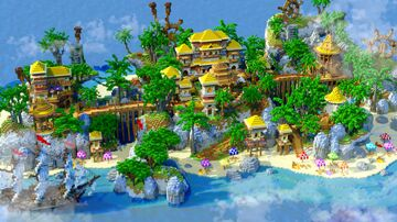 Hot Summer Tropical Island | Minecraft | Comission Minecraft Map & Project