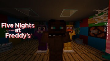 FNAF 1 Pizzeria Multiplayer Minecraft Map & Project