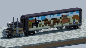 """Kenworth W900A, From the movie """"Smokey, And The Bandit"""" Minecraft Map & Project"""